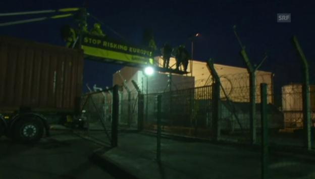 Video «Aktivisten steigen ins AKW Fessenheim ein.» abspielen