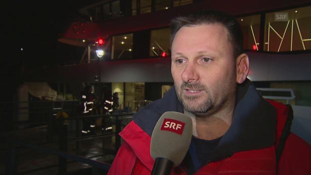 Video «Rolf Kurmann, Einsatzleiter der Feuerwehr, zum Schiffsunglück» abspielen