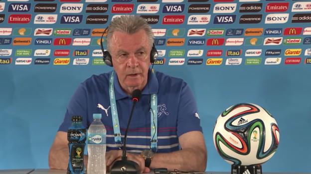 Video «Vor dem Ecuador-Spiel: Medienkonferenz der Schweizer Nati» abspielen
