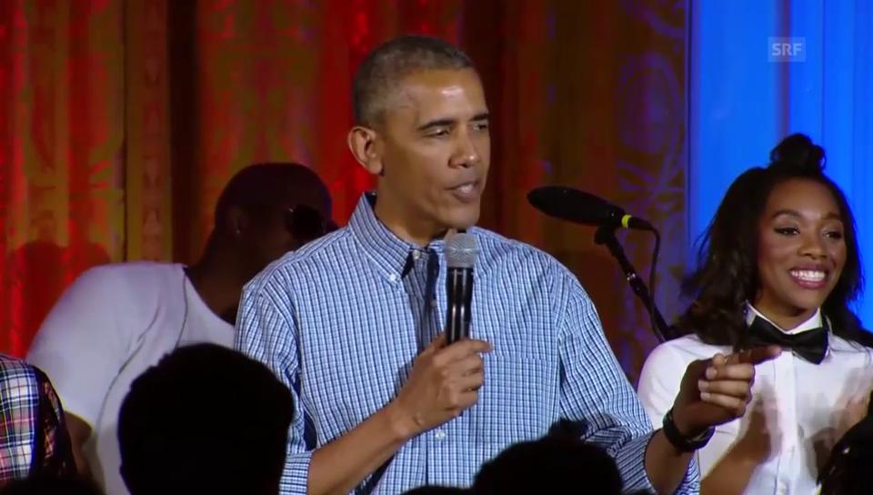 Obama singt für Malia