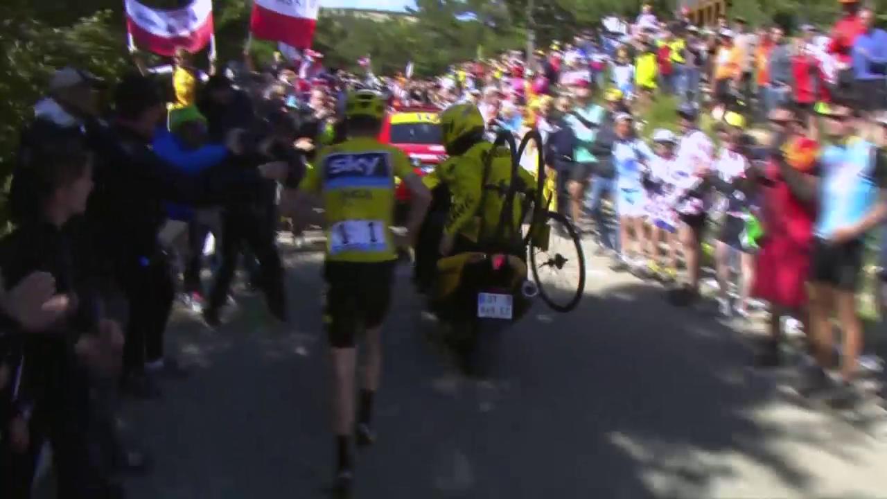 Skandal am Mont Ventoux: Froome rennt den Berg hoch