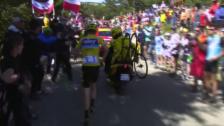Video «Skandal am Mont Ventoux: Froome rennt den Berg hoch» abspielen