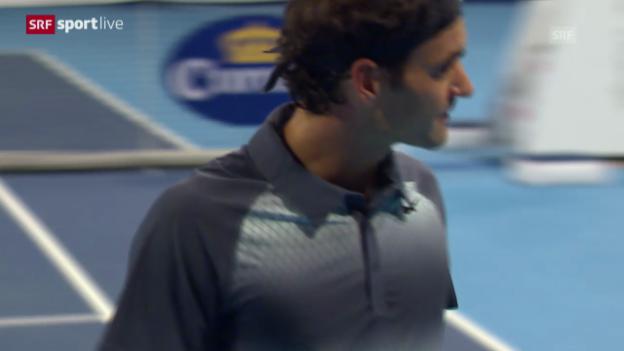 Video «Federer besiegt Istomin» abspielen