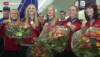 Video «Gold-Curlerinnen zurück in der Schweiz» abspielen