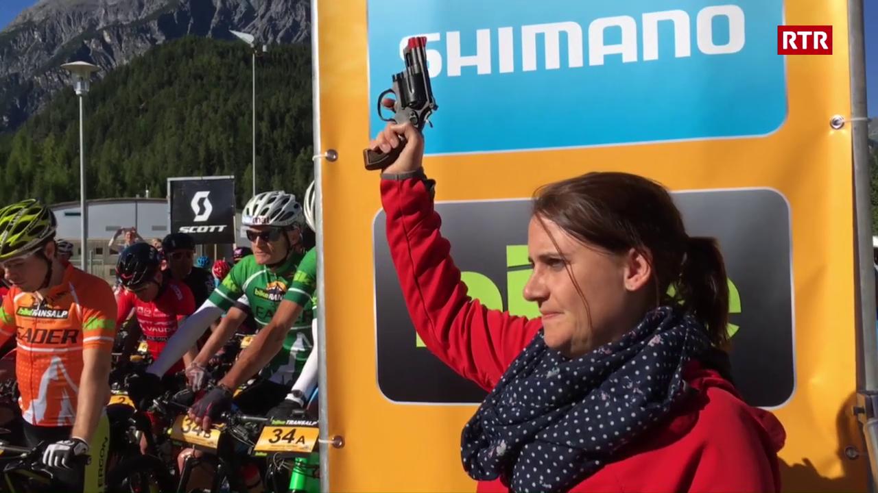Culp da partenza per l'etappa da Bike Transalp a Scuol