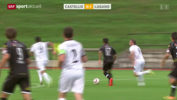 Video «Fussball: Cup, Castello - Lugano» abspielen
