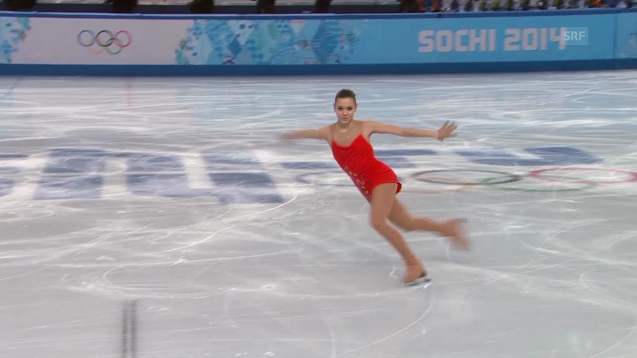 Eiskunstlauf: Das Kurzprogramm von Adeliuna Sotnikowa (sotschi direkt, 19.02.2014)
