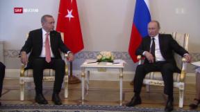 Video «Politische Zweckbeziehung von Putin und Erdogan» abspielen