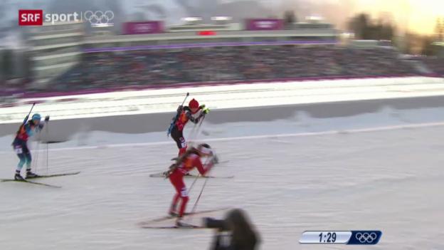 Video «Biathlon: 4x6 km Staffel der Frauen» abspielen