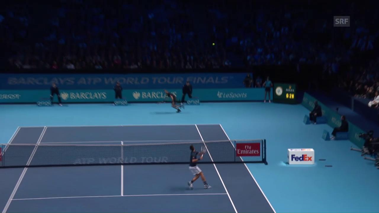 Djokovic patzt gleich zweimal beim Smash