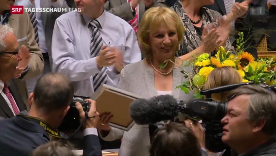 Ursula Haller (BDP) wird verabschiedet