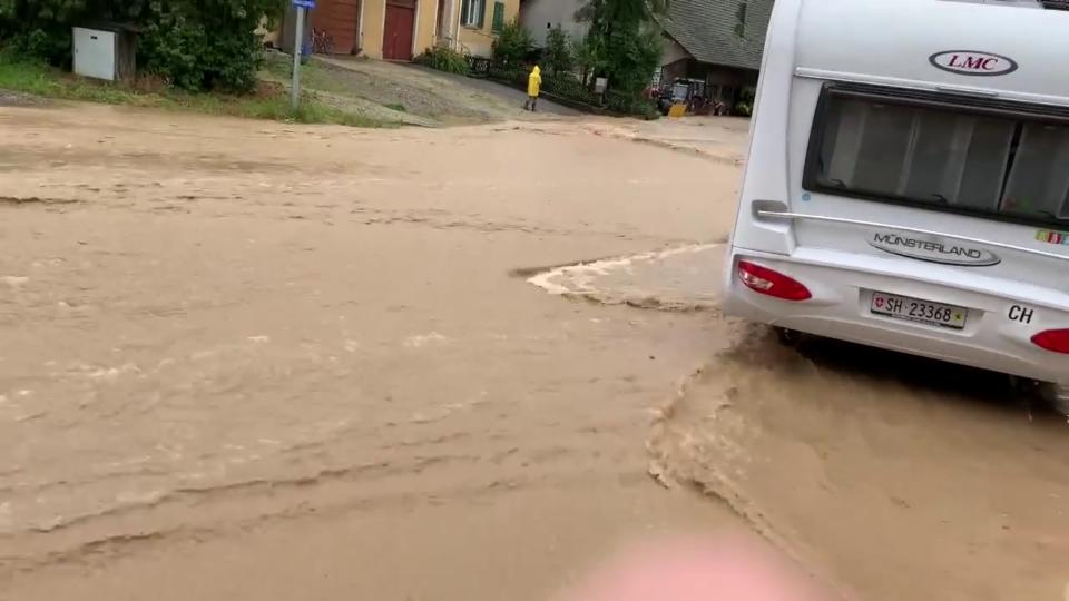 Hochwasser in Oberhallau/SH, 15. Juli, Rolf Ochsner