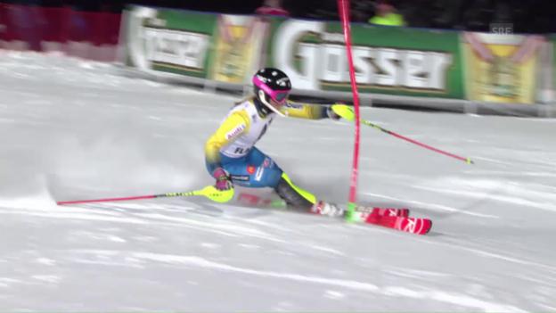 Video «So fuhr Hansdotter in Flachau zum Sieg» abspielen