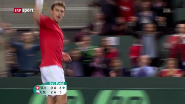 Video «Davis Cup: Laaksonen - Berdych («sportaktuell»)» abspielen