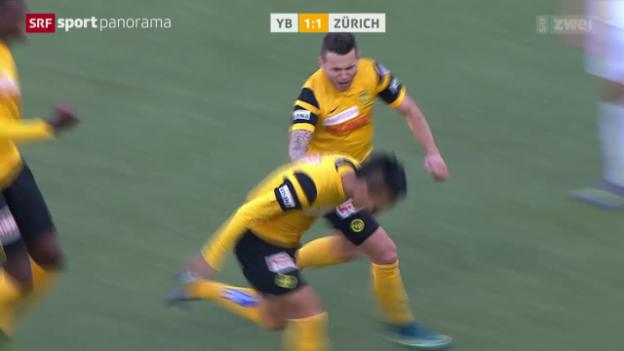 Video «Fussball: Super League, YB - Zürich, Tor Kubo» abspielen