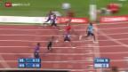 Video «Leichtathletik: Athletissima, 100 m der Männer» abspielen