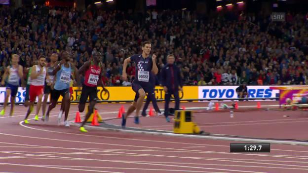 Video «Bosse schafft über 800 m die grosse Überraschung» abspielen