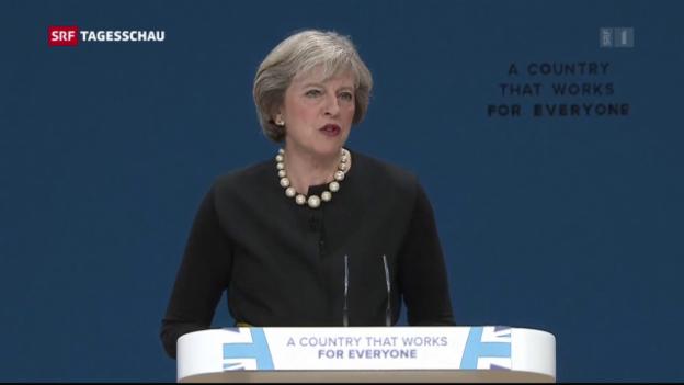 Video «Theresa May: «Wir aktivieren Brexit-Artikel bis Ende März»» abspielen