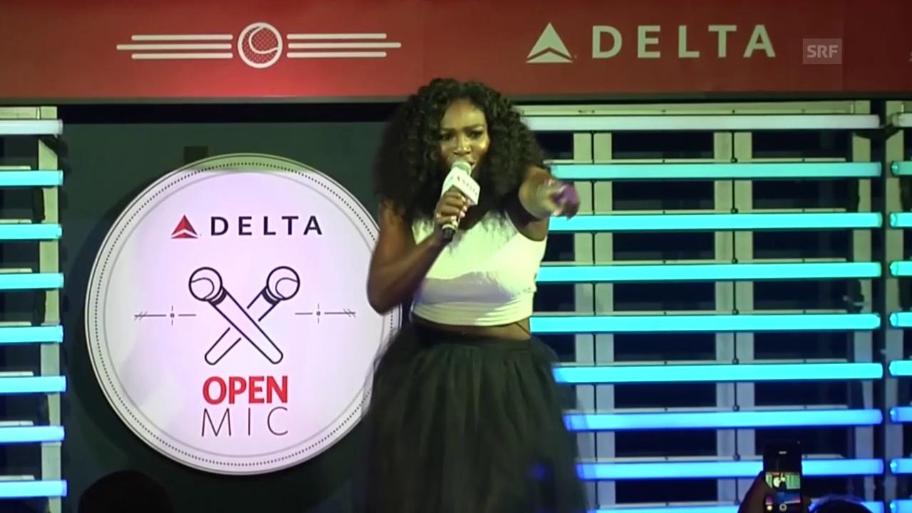 Tennis: Serena Williams singt Karaoke (Quelle: SNTV)