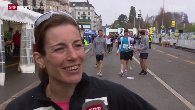 Video «LA: Nicola Spirig am Zürich Marathon» abspielen