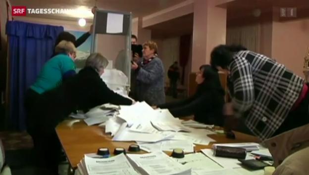 Video «Wahlen in der Ostukraine» abspielen