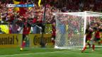 Video «Satter Schuss - Lukaku sorgt für Belgiens Torpremiere» abspielen