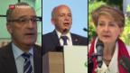 Video «Bundesrat sieht Sicherheitspolitik auf Kurs» abspielen