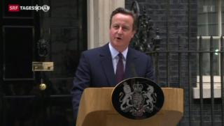 Video «Politisches Erdbeben in Grossbritannien» abspielen