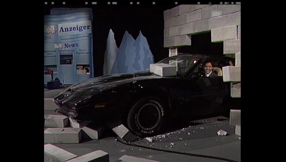 Beni Thurnheer als Knight Rider bei «Tell Star»