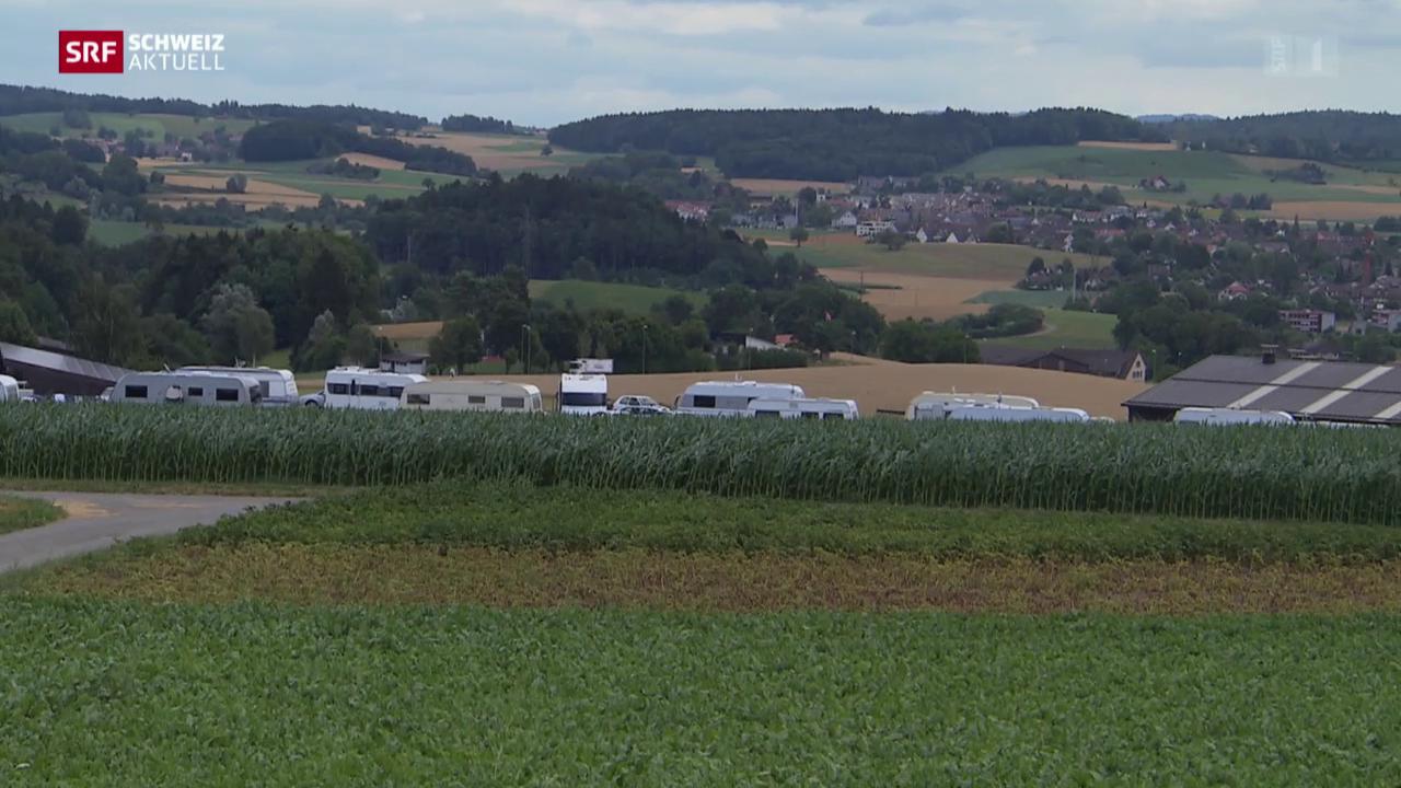 Französische Romas in Neftenbach