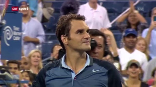 Video «Federer im US-Open-Achtelfinal («sportpanorama»)» abspielen