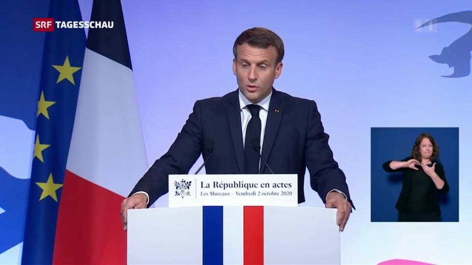 Aus dem Archiv: Macron stellt Plan gegen Islamisierung vor