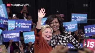 Video «Michelle Obama hilft beim US-Wahlkampf » abspielen