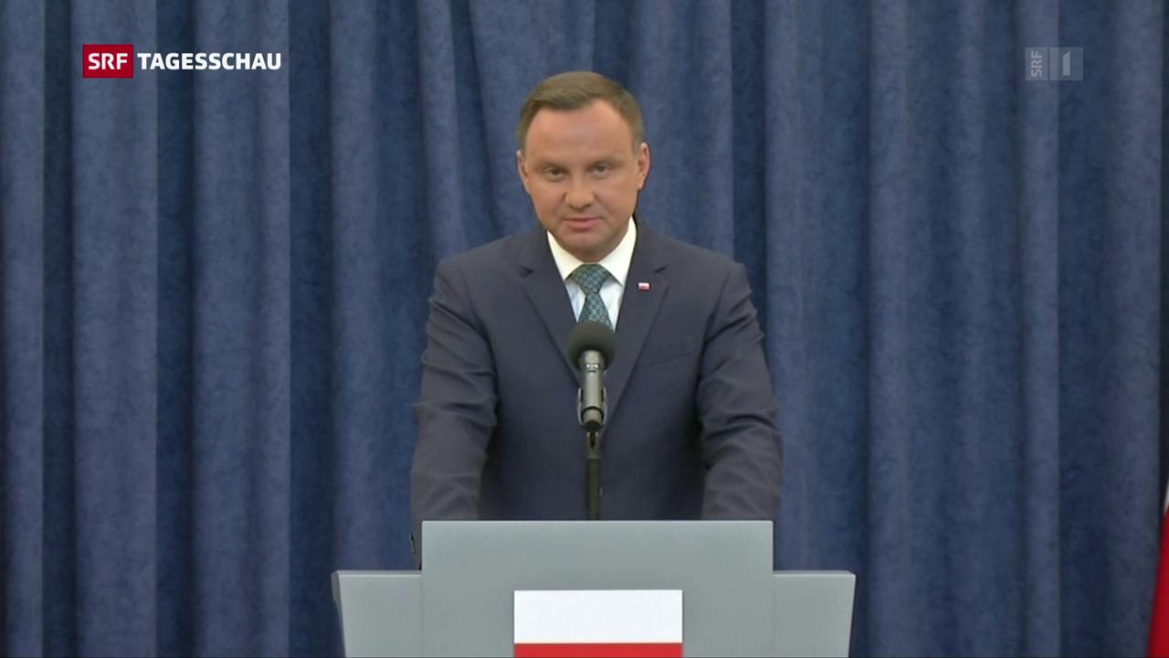 Polens Präsident legt Veto gegen umstrittene Justizreform ein