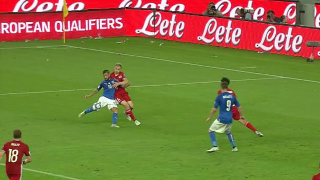Video «Die Tore bei Italien - Liechtenstein» abspielen