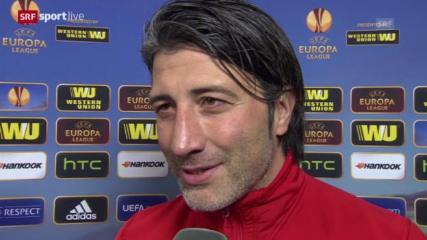Video «Fussball: Basel-Maccabi, Interview mit Murat Yakin («sportlive», 27.2.14)» abspielen