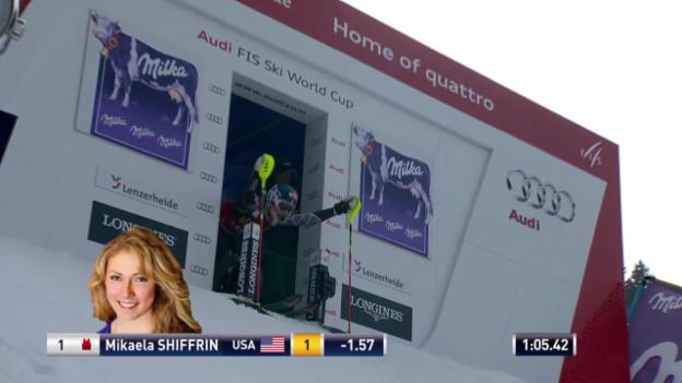 Video «Ski Alpin: Slalom Lenzerheide, 2. Lauf Shiffrin («sportlive», 15.03.2014)» abspielen