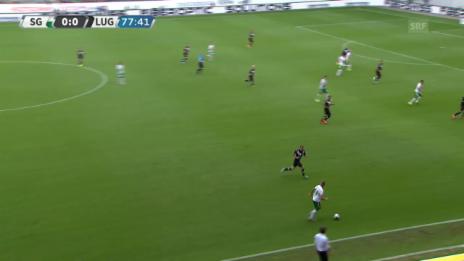 Video «Fussball: Super League, St. Gallen-Lugano, Tor 1 Aleksic» abspielen