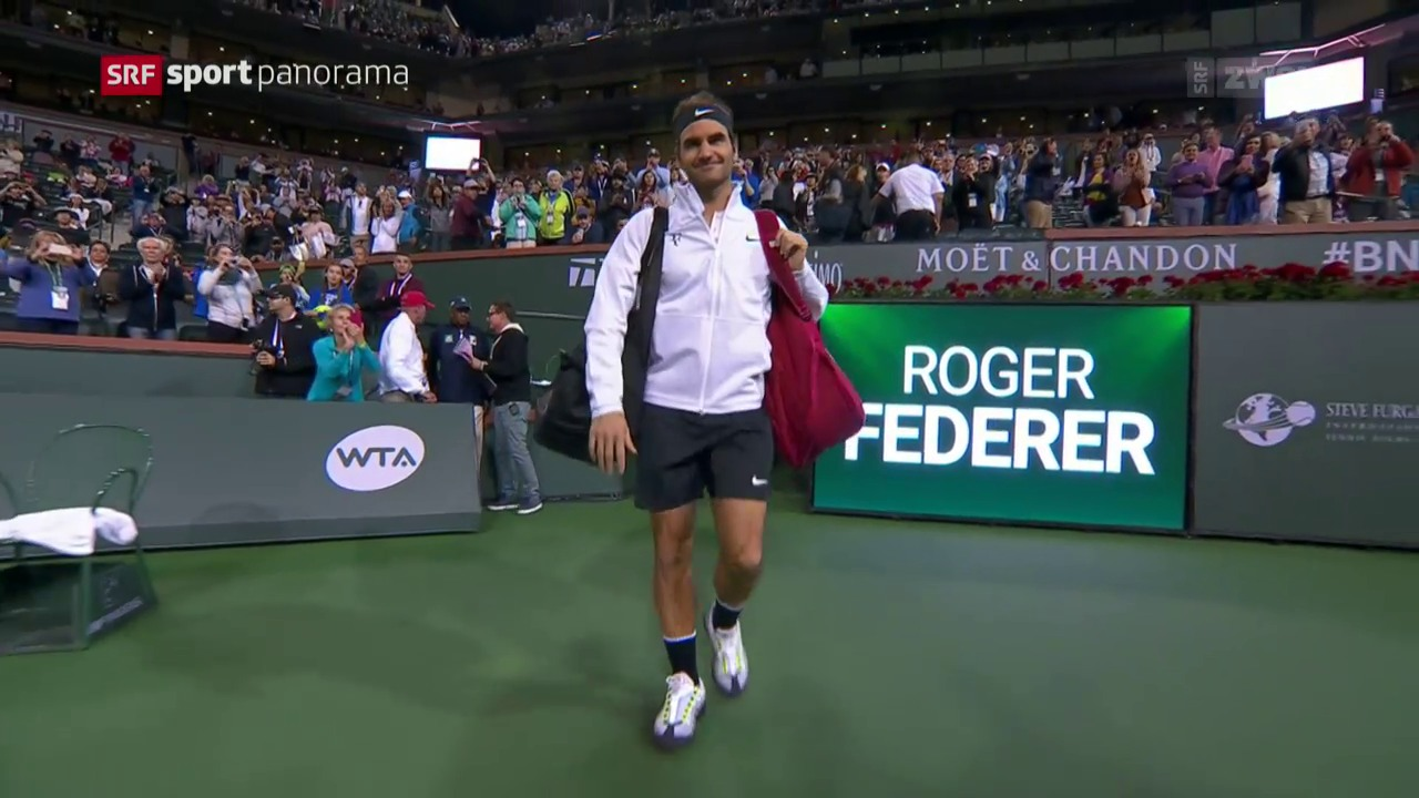 Federer wird vom Regen gestoppt