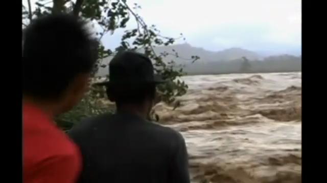 Reissende Fluten nach Taifun