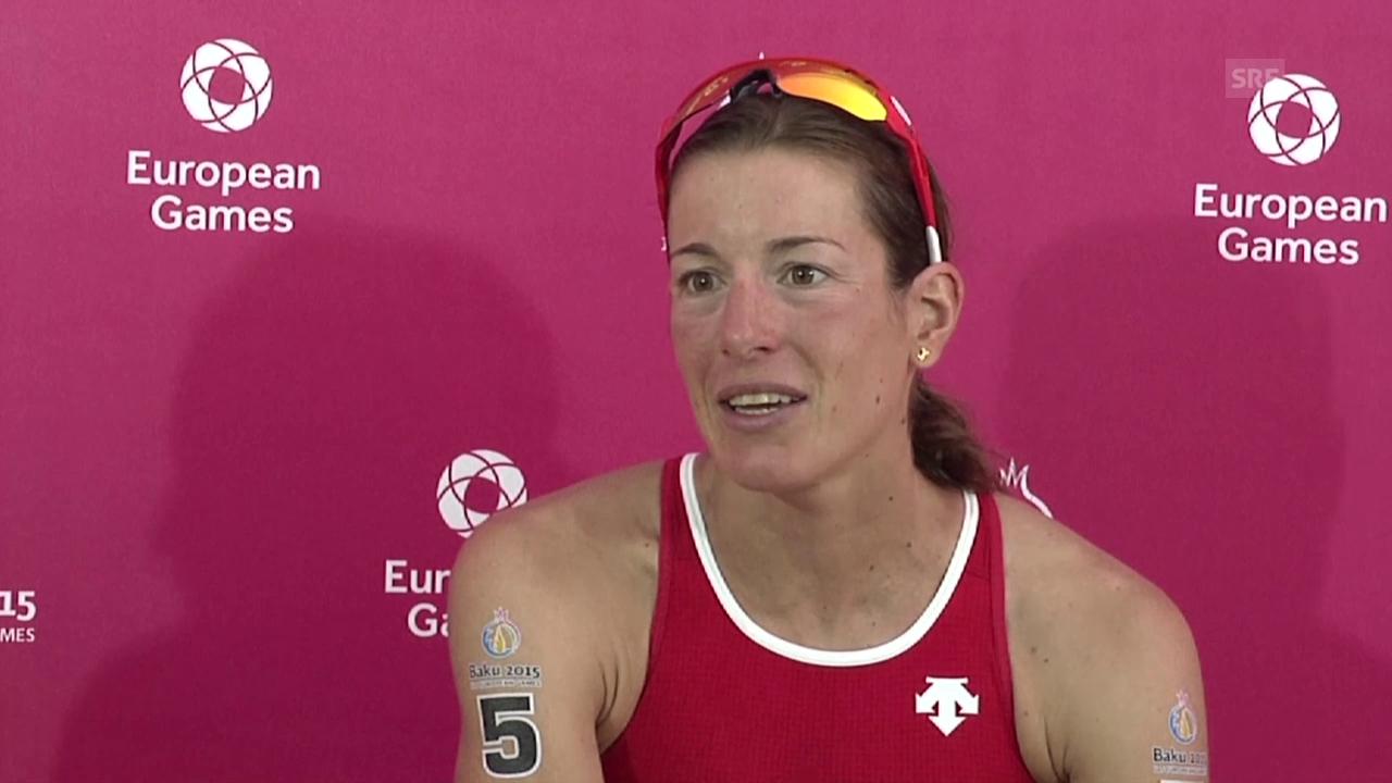 Triathlon: European Games, Interview Nicola Spirig