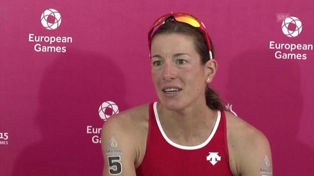 Video «Triathlon: European Games, Interview Nicola Spirig» abspielen