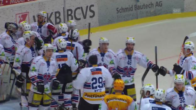 Video «Eishockey: Ligaqualifikation Spiel 4, Visp - Biel» abspielen