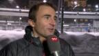 Video «Eishockey: Spengler Cup, VIP-Gespräch mit Bergsteiger Ueli Steck» abspielen