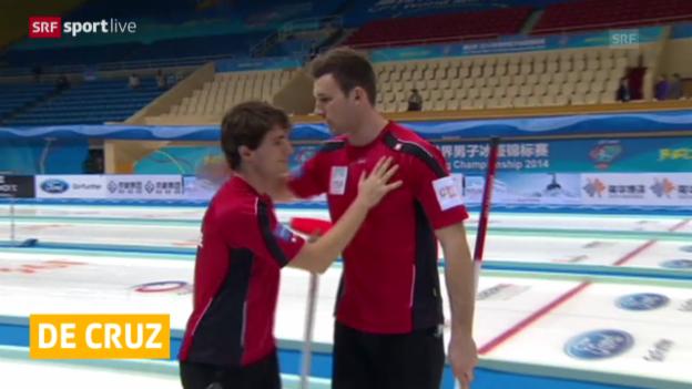 Video «Curling: Schweizer auf Playoff-Kurs» abspielen