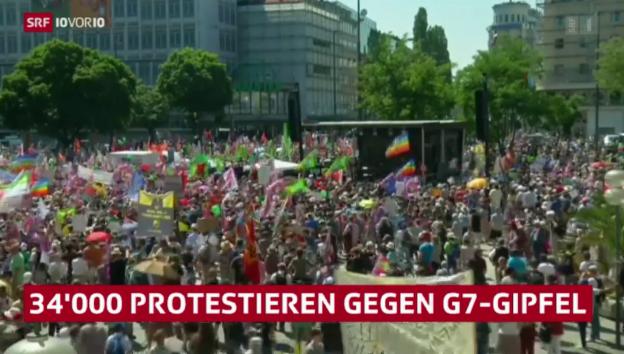 Video «Zehntausende gegen G7-Gipfel» abspielen