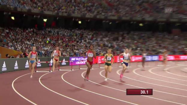 Video «Leichtathletik: WM Peking 2015, Halbfinals 400 m Hürden, Heat mit Lea Sprunger» abspielen