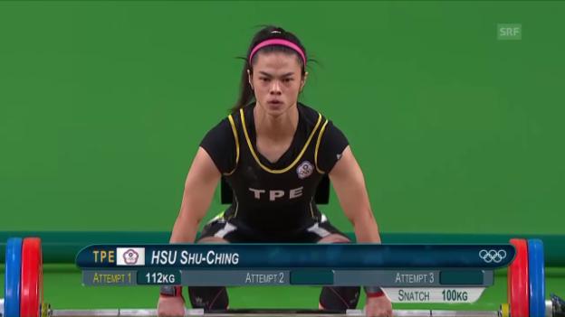 Video «Siegerin Shu-Ching stemmt 112 kg» abspielen