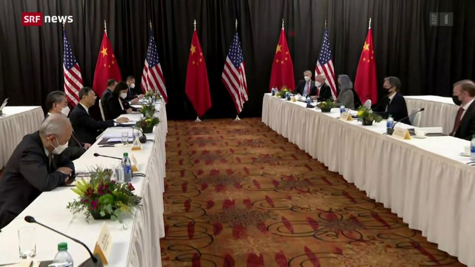 Aus dem Archiv: Treffen USA und China in Zürich