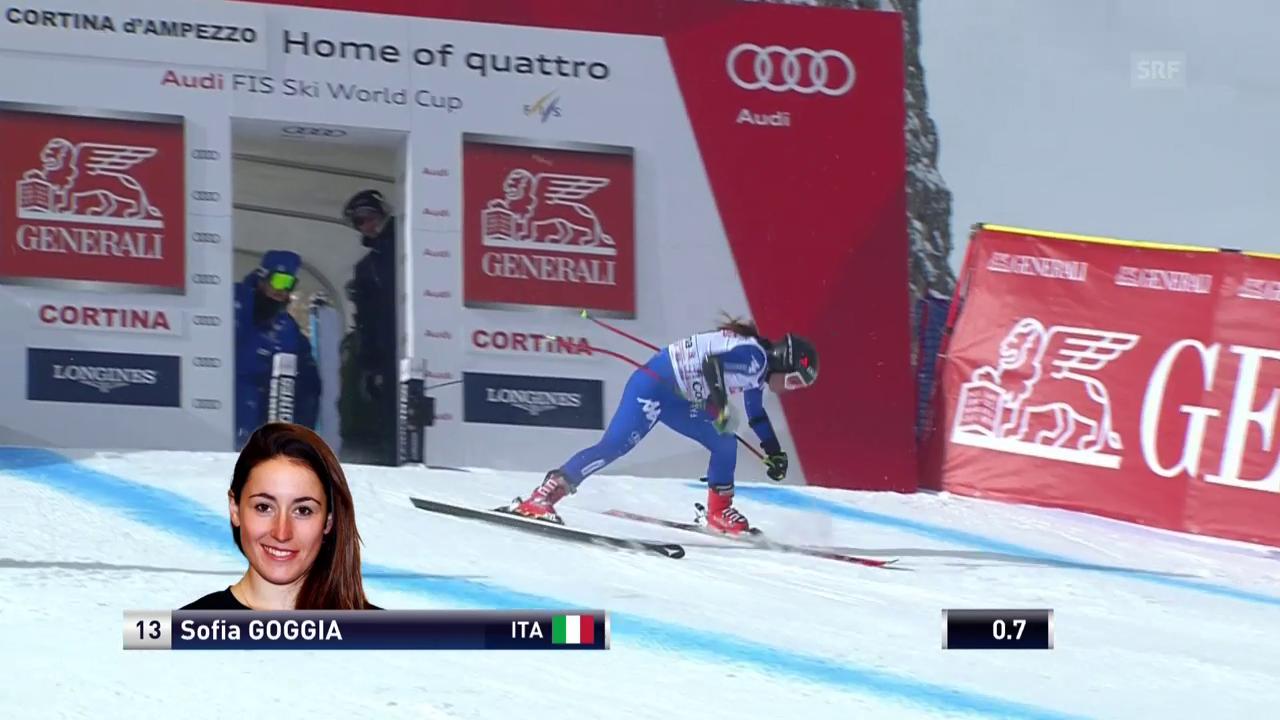 Die missratene Fahrt von Sofia Goggia